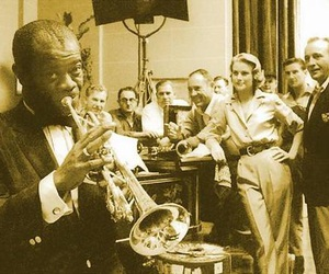 grace kelly, high society, and louis armstrong image
