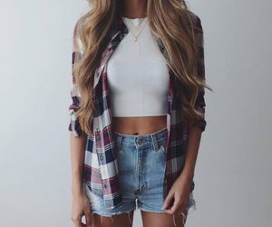 blonde, curly, and jean image