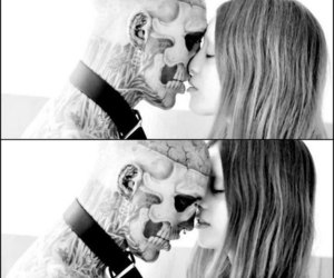 black and white, tattoo, and rico the zombie image