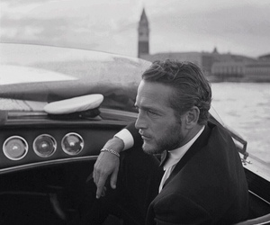 paul newman, venice, and black and white image