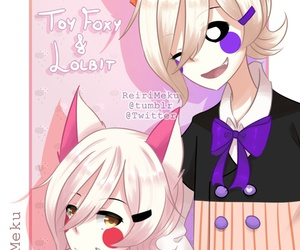 mangle, fnaf, and lolbit image