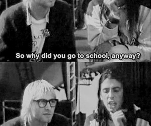 kurt cobain, nirvana, and school image