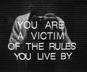 quote, rules, and victim image