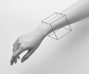 hand, cube, and grunge image