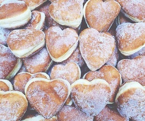 food, donuts, and heart image