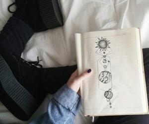 grunge, drawing, and black image