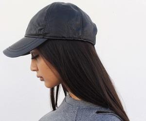girl, hair, and cap image