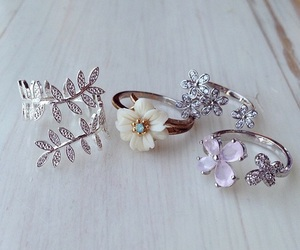 rings, fashion, and flowers image