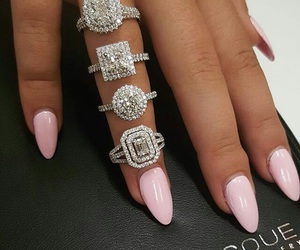 nails, pink, and rings image