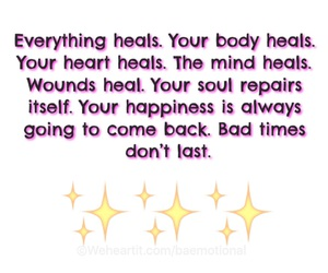 body, happiness, and heals image