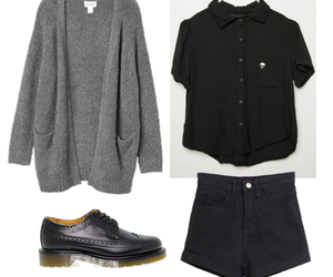 cardigan, clothes, and dr. martens image