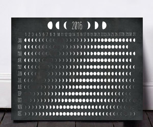 etsy, moon phases, and prints image