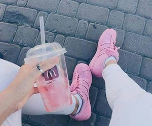 drink, McDonalds, and pink image