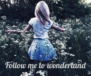alice in wonderland, blonde, and book image