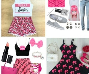 pink, barbie, and outfits image
