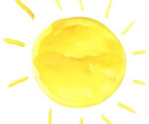 sun, yellow, and overlay image