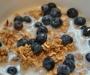 blueberries, breakfast, and cereal image