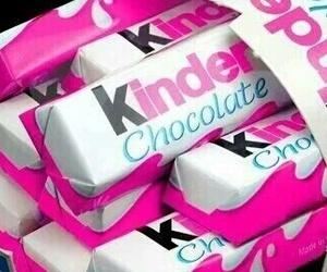 kinder, chocolate, and pink image