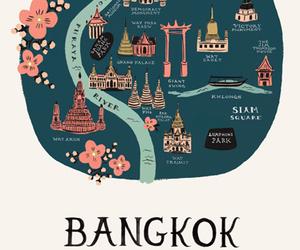 bangkok, illustration, and travel image