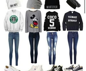 fashion, converse, and mickey mouse image