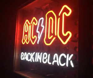 ACDC, back in black, and music image