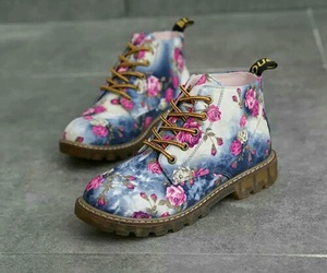 shoes, flowers, and grunge image