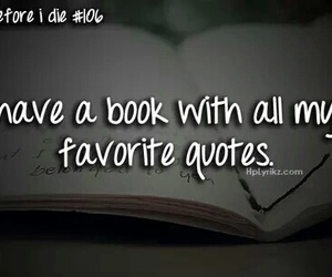 quote, before i die, and book image