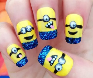 nails, minions, and yellow image