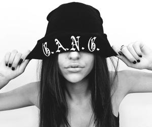 black and white and gang image