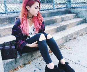 grunge, hair, and outfit image