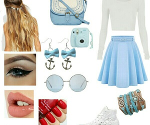 fashion, look, and Polyvore image