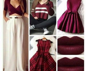 clothes, lips, and red image