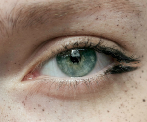 freckle, green, and make up image