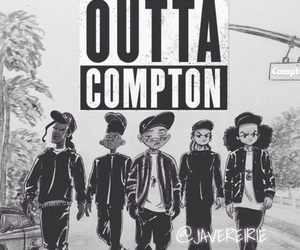 straight outta compton, drawing, and boondocks image