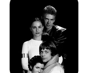 family, skywalkers, and black+and+white image