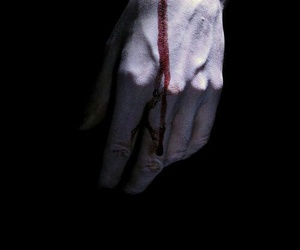 blood, hand, and black image