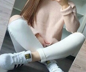 adidas, shoes, and sweater image