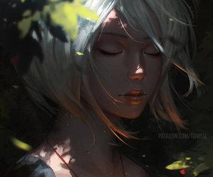 girl, art, and guweiz image