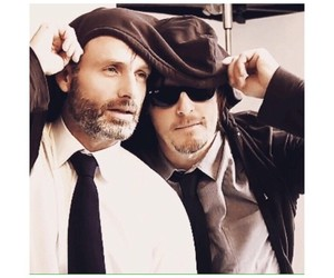 brown, norman reedus, and love image