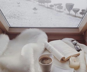 snow, winter, and book image