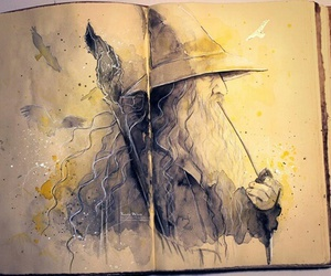 gandalf, the hobbit, and LOTR image