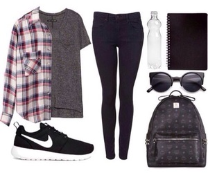 outfit, nike, and school image