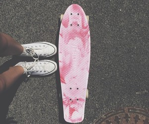 pink, skate, and converse image
