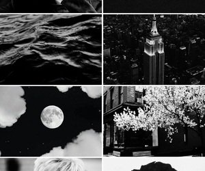 black and white, bw, and Collage image