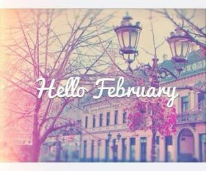 february, hello, and month image