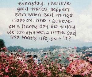 quotes, life, and flowers image