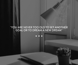 black and white, Dream, and goals image