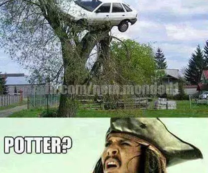 harry potter, funny, and car image