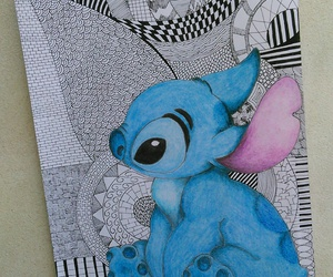 disney, drawing, and lilo and stitch image