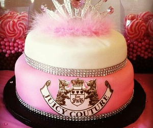 cake, pink, and juicy couture image